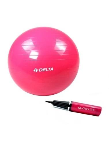 Delta Delta 65 Cm Fuşya Deluxe Pilates Topu Ve 25 Cm Pilates Topu Pompası Renkli